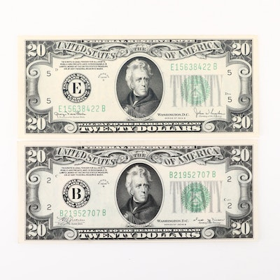 Two U.S. $20 Federal Reserve Notes