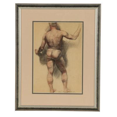 Edmond J. Fitzgerald Conté Crayon Figure Drawing