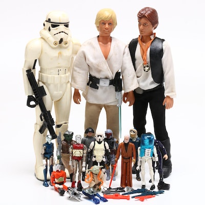 """""""Star Wars"""" Kenner Toys, Large and Small Action Figures, Circa 1970s-1980s"""