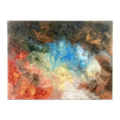 Abstract Impasto Oil Painting