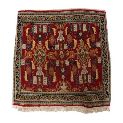 2'2 x 2'4 Hand-Knotted Persian Qashqai Rug, circa 1970