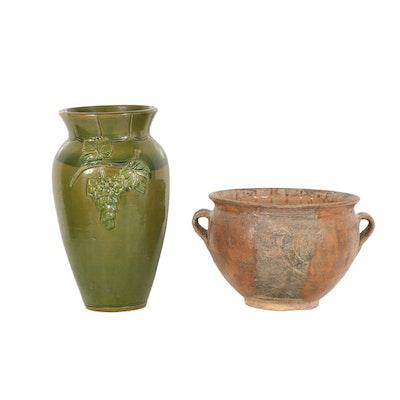 Earthenware Floor Vases