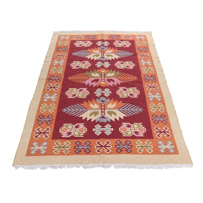 Machine Made Turkish Reversible Synthetic Kilim Rug