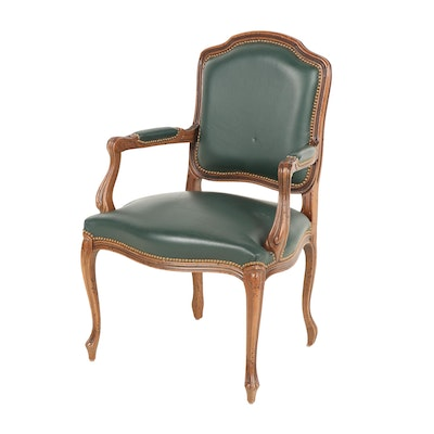Louis XV Style Italian Armchair with Nailhead Trim