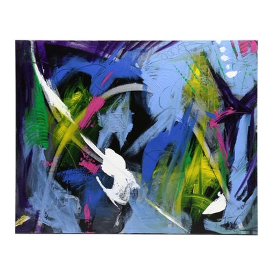 "Susan Crew Acrylic Painting ""Crossroads"""