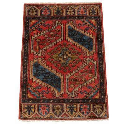 2'0 x 2'11 Hand-Knotted Afghani East Turkistan Khotan Rug