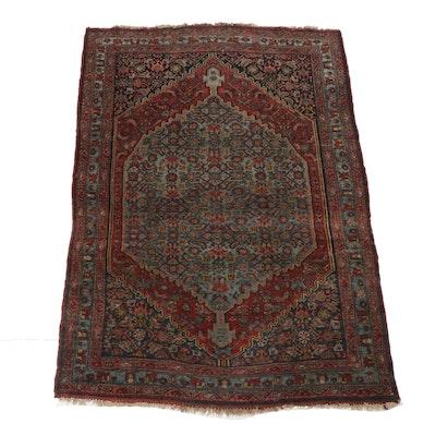 3'10 x 5'8 Hand-Knotted Persian Bijar Rug, circa 1920