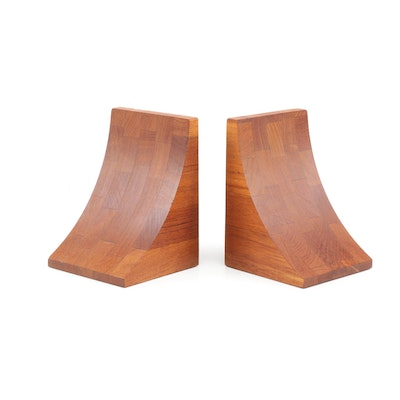 Brostrom Denmark Teak Bookends, Mid-20th Century