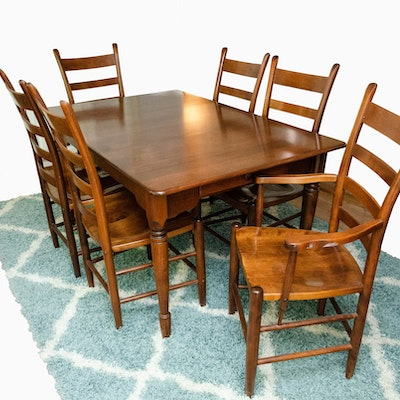 Nichols & Stone, Seven-Piece Federal Style Country Dining Set