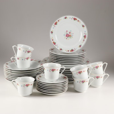 Floral Decorated Porcelain Tableware