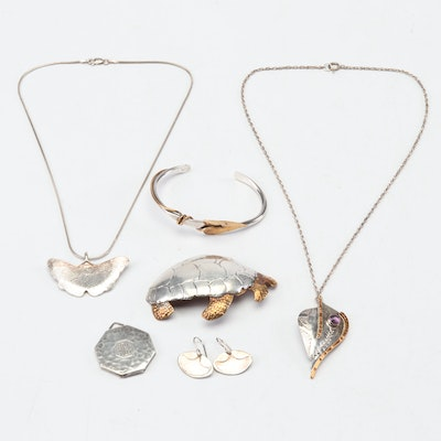 Sterling Silver Modernist & Contemporary Jewelry
