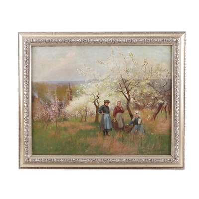 P. Pascal Pastoral Oil Painting