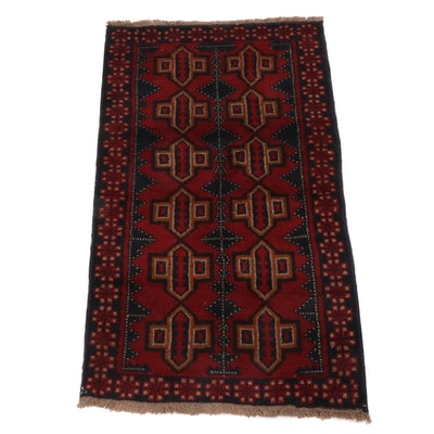 2'10 x 5'0 Hand-Knotted Afghani Turkoman Rug
