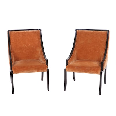 Regency Style Wooden Lounge Chairs, Mid to Late 20th Century