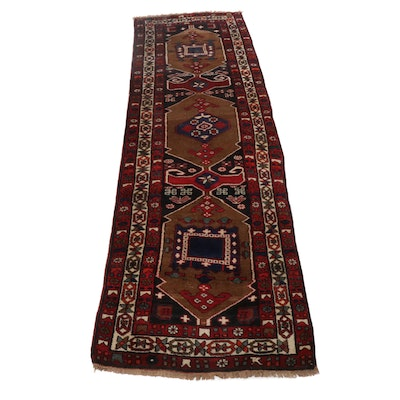 3'10 x 13'1 Hand-Knotted Northwest Persian Carpet Runner, circa 1960