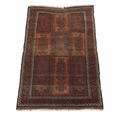 3'0 x 4'11 Hand-Knotted Persian Baluch Rug, circa 1910