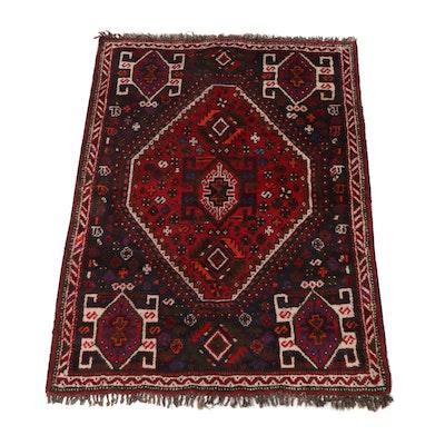 3'10 x 5'6 Hand-Knotted Persian Shiraz Rug, circa 1940