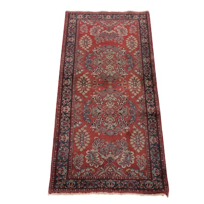 2'9 x 5'11 Hand-Knotted Indo-Persian Sarouk Runner