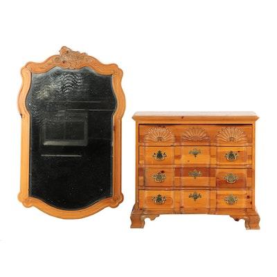 Wooden Dresser with Mirror