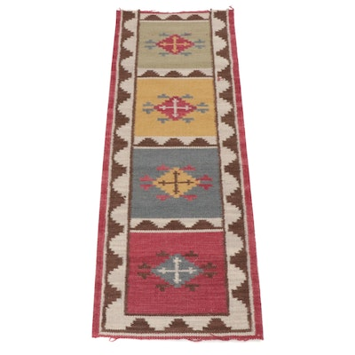 2'4 x 6'5 Hand-Knotted Indo-Turkish Kilim Runner