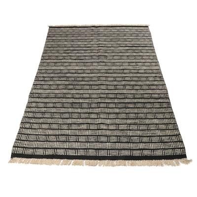 6'3 x 10'2 Handwoven Indo-Moroccan Kilim Rug