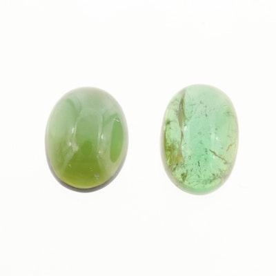Loose 6.47 CTW Green Tourmaline Gemstones