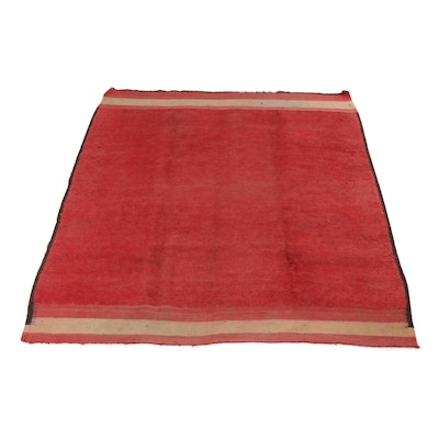 6'7 x 7'6 Hand-Knotted Persian Gabbeh Rug, circa 1920s