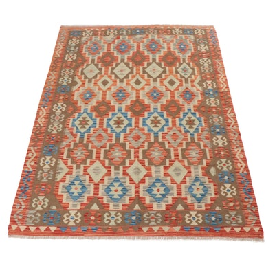 5'8 x 8'0 Handwoven Turkish Kilim Rug