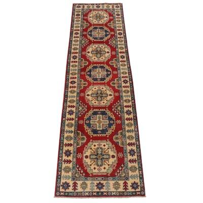 2'8 x 10'0 Hand-Knotted Afghani Caucasian Kazak Carpet Runner