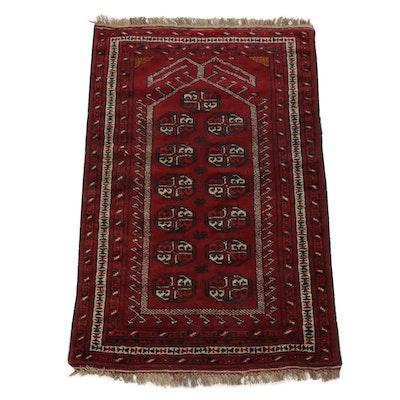 2'8 x 4'5 Hand-Knotted Persian Turkoman Rug, circa 1970