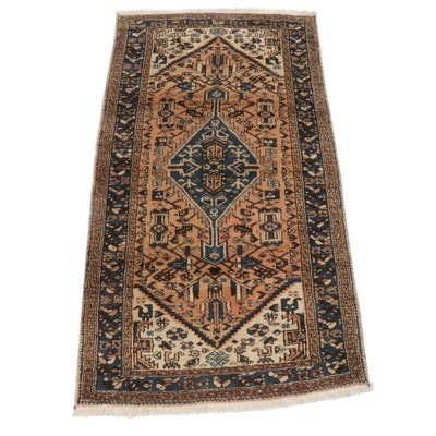 3'7 x 6'9 Hand-Knotted Northwest Persian Rug, circa 1930s