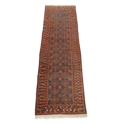 2'6 x 9'1 Hand-Knotted Afghani Turkoman Runner, circa 1970