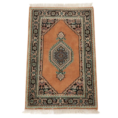 1'10 x 3'2 Hand-Knotted Indo-Persian Bijar Rug