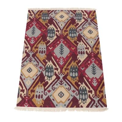 4'2 x 6'3 Handwoven Turkish Kilim Rug