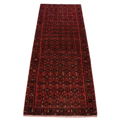 3'9 x 10'0 Hand-Knotted Persian Malayer Runner, circa 1970