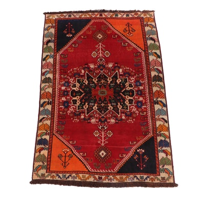Hand-Knotted Kurdish Luri Wool Rug