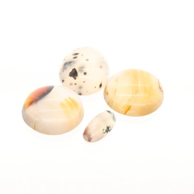 Loose 21.26 CTW Agate Gemstone Cabochons