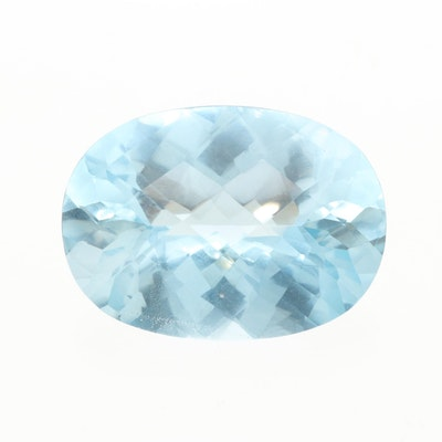 Loose 57.64 CT Blue Topaz Gemstone