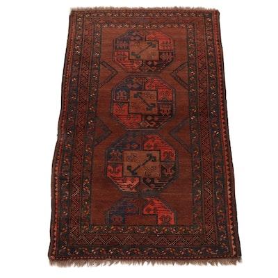 3'5 x 5'10 Hand-Knotted Afghani Turkoman Rug, circa 1930