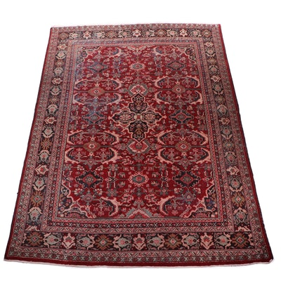 Hand-Knotted Persian Mahal Wool Room Sized Wool Rug