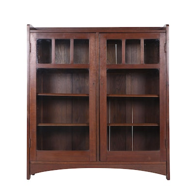 L. & J. G. Stickley Mission Oak Bookcase, Early 20th Century