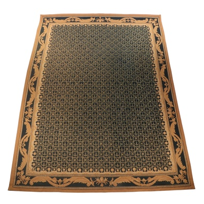 Handwoven French Aubusson Style Wool Room Size Rug