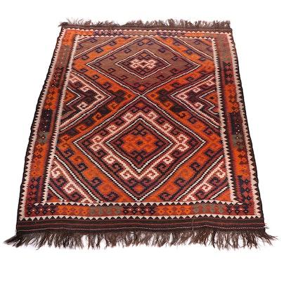 Handwoven Anatolian Wool Room Size Kilim Rug