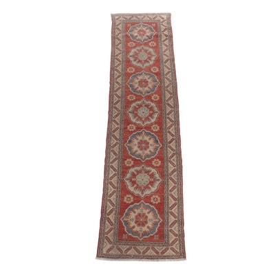Hand-Knotted Pakistani Uzbek Wool Carpet Runner