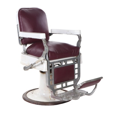 Theo Kochs Co. Porcelain Barber's Chair, Early to Mid 20th Century