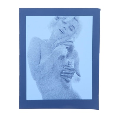 "Bert Stern Serigraph ""Marilyn (Blue)"""