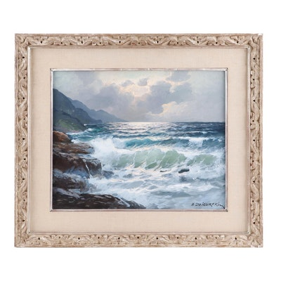 Alexander Dzigurski Seascape Oil Painting
