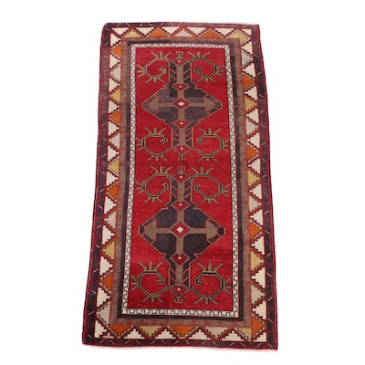 Hand-Knotted Turkish Malatya Wool Rug