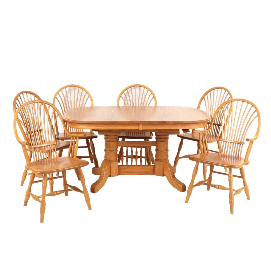 Edrich Mills Golden Oak Dining Table