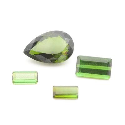 Loose 18.59 CTW Green Tourmaline Gemstones